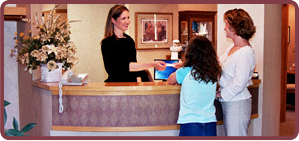 patients at front desk