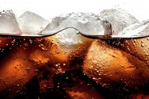 A close-up shot of cola.