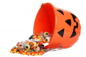 halloween bucket overflowing